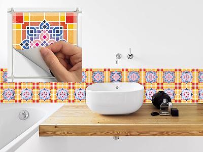 Vinyl Floor Tile Sticker #2 vinyl floor tile stiker pattern modern seamless ornament