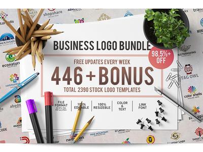 Business Logo Bundle identity off free vector design stock template set bundle logo business