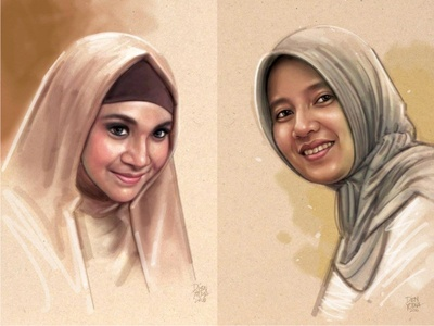 100% digital painting realistic potrait photoshop photo illustration family drawing painting digital artwork art