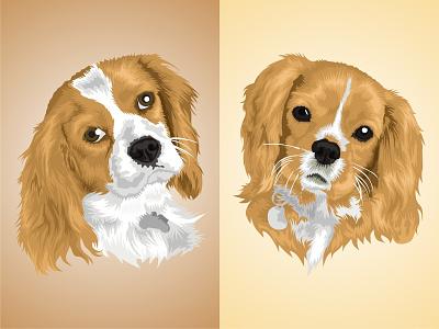 Vector Pet pet app drawing art cartoon dog character petshop animal pet digital color illustration vector