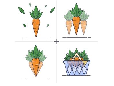 Carrot, Greenery, Shopping, Basket