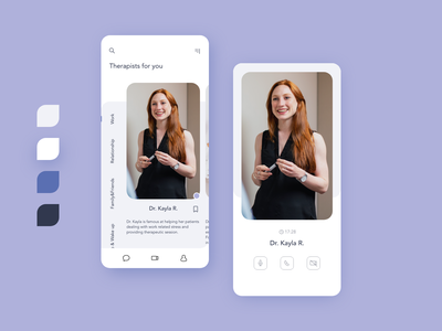 Therapy Appointment App san francisco bay area online counseling platform ios app wireframe prototype purple freelance minimal therapy adobexd adobe ui ux