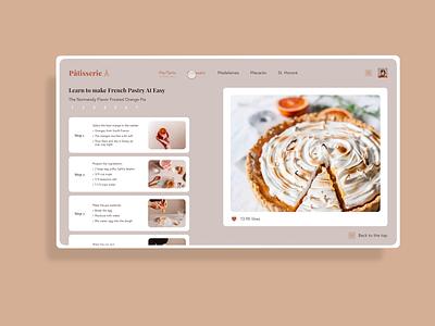 Interactive tablet recipe app socialmedia paris french recipe smartrecipe ios app table hover scrollto premierepro adobexd prototype ui ux orange interaction cooking
