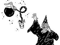 I take my coffee black, like my magic.