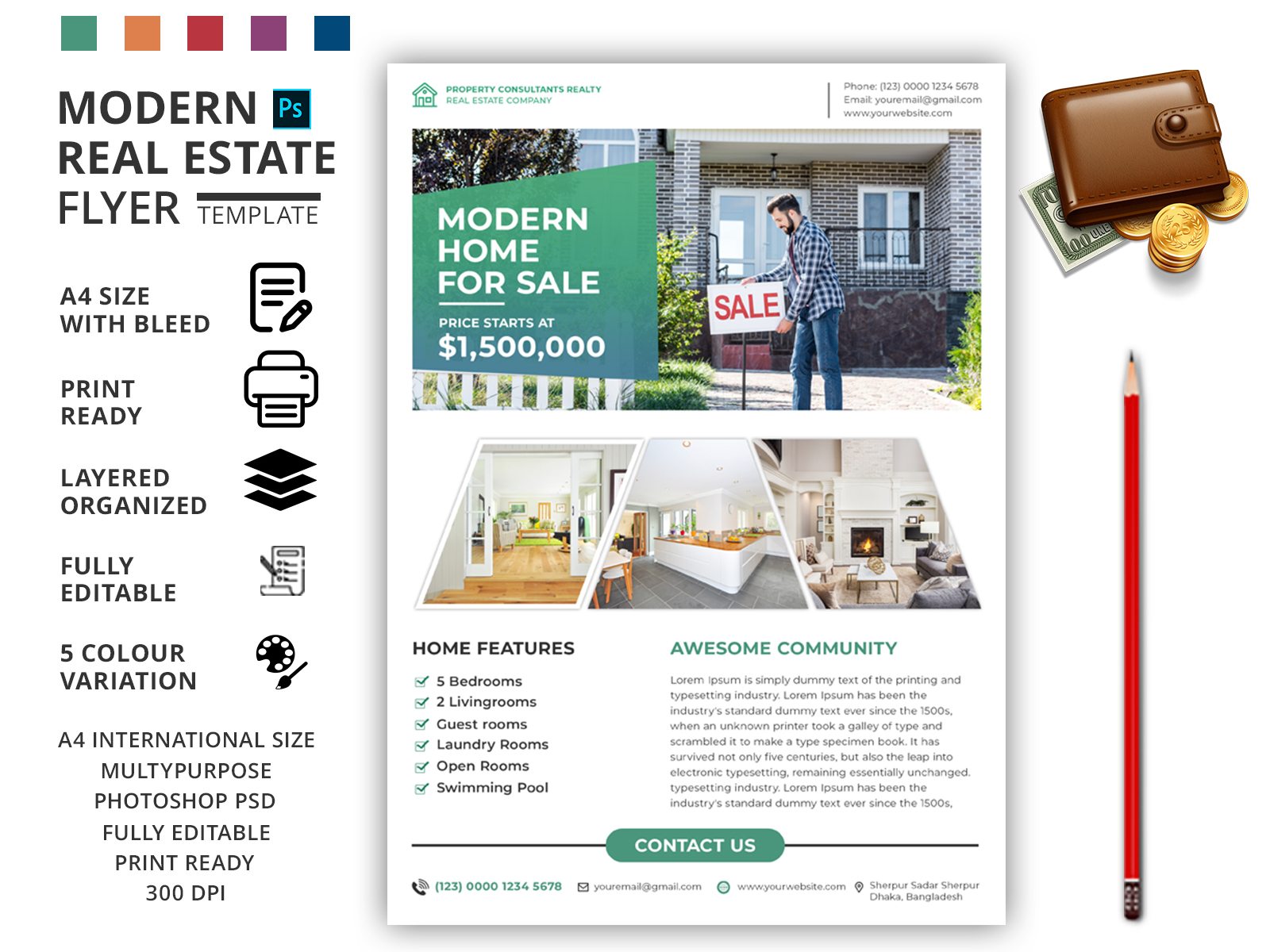 Modern Real Estate Flyer Template By Md Zahid Hasan On Dribbble