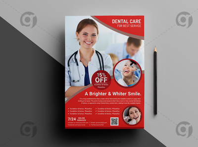Dental Health Care Flyer Template