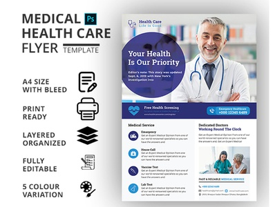 HEALTHCARE & MEDICAL FLYER TEMPLATE