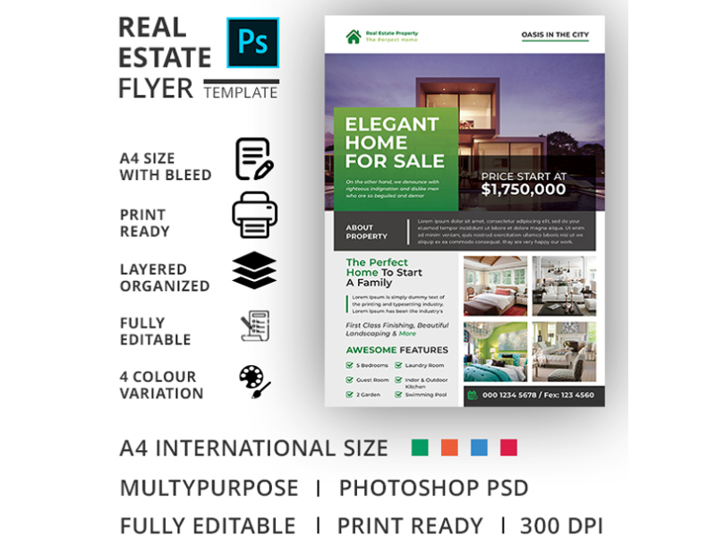 Real Estate Flyer Template By Md Zahid Hasan On Dribbble