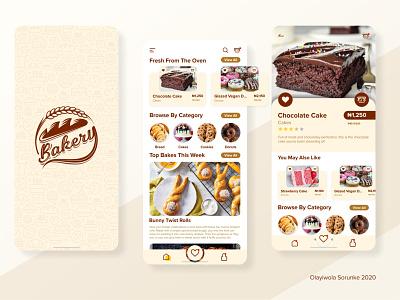 Bakery Mobile App User Interface Design mobile app design mobile app mobile ui ui design uiux graphic design art web ux ui logo branding design app