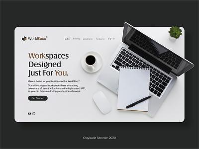 Landing Page For Website creative design 3d product design uiux design typography design icon branding ui logo graphic design web ux ui design