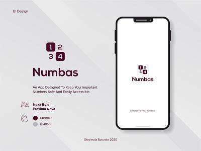 Mobile UI Design - Numbas (Pt. 1) app illustration art mobile mobile app web design art illustraion mobile ui product design branding mobile app design creative design ui design ui logo graphic design design