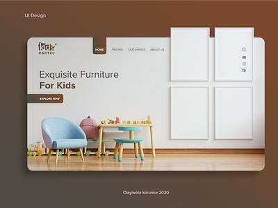 Landing Page For Kids' Furniture Website landing page design landing page kids uidesign web design web ux mobile ui uiux creative design branding ui design ui design