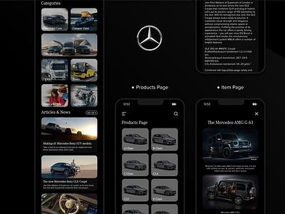 Mercedes-Benz Vehicles: A Mobile Perspective (III) app app design interfacedesign web design uiux product design ux creative design mobile ui ui design ui mobile app design design