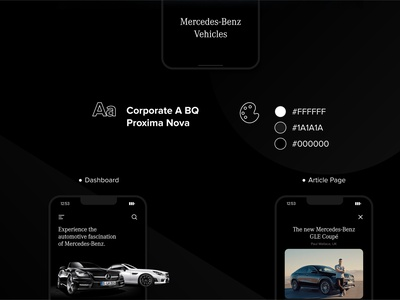 Mercedes-Benz Vehicles: A Mobile Perspective (II) interaction interface interfacedesign app design app web design uidesign ux uiux mobile ui product design design ui ui design mobile app design