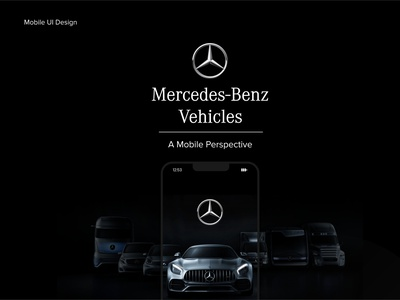 Mercedes-Benz Vehicles: A Mobile Perspective (I) interfacedesign interface app design app creative web design ux uiux product design mobile ui mobile app design ui ui design design