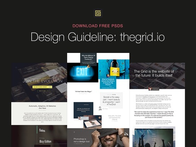 (Free PSDs) The Grid: Website design web site ui free psd download guideline constraints