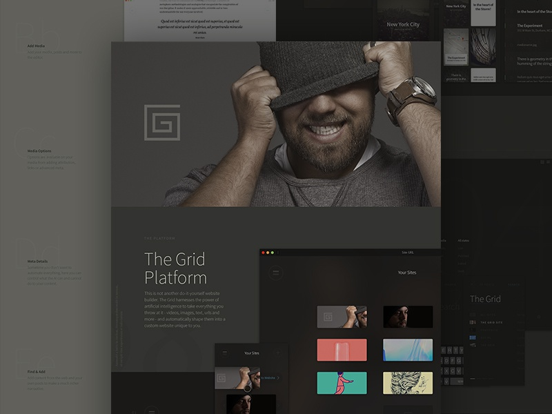 The Grid: Platform beanie websites ai the grid ui chrome platform