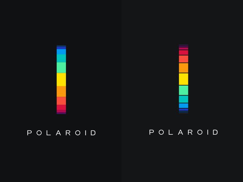 Polaroid Logo Variations mark movement wheel zoetrope colorful colors logo brand polaroid
