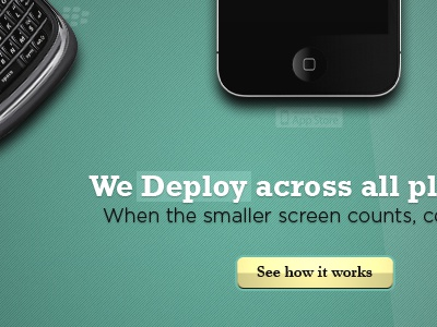 D for Deploy green yellow promo web design website creative iphone blackberry cta