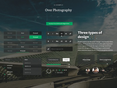 Medium UI medium ui buttons editor type tooltip dropdown selector photography elements