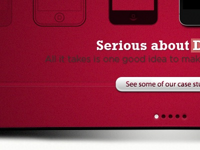Splash of red ui promo button red web design website iphone concept detail shadow
