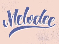 Mc Melodee Lettering inspired by his music.