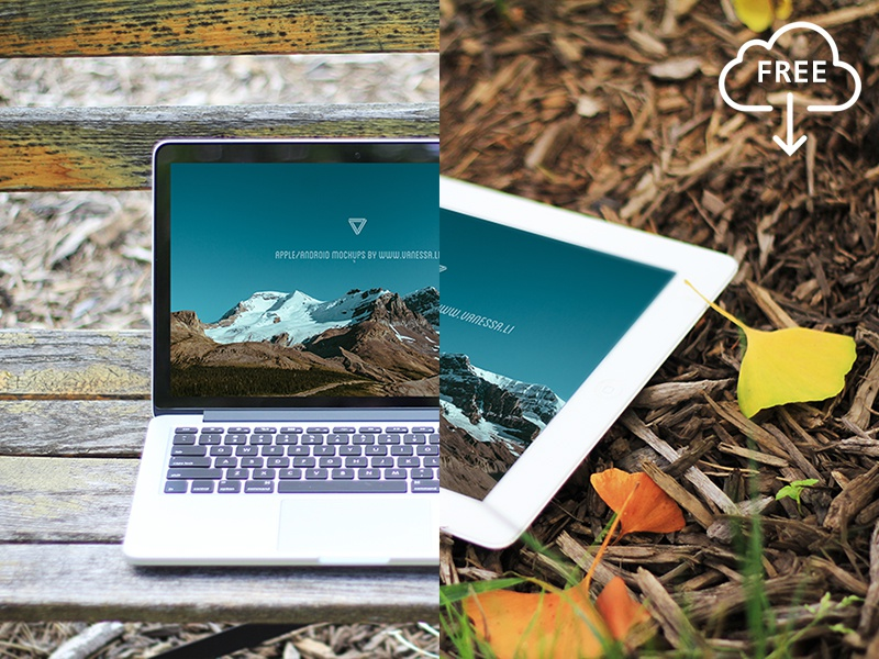 Two more free mockups. mockup ipad mac free freebie