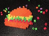 Burger with pixels
