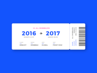 Hold on tight! boarding pass dribbble year new boarding