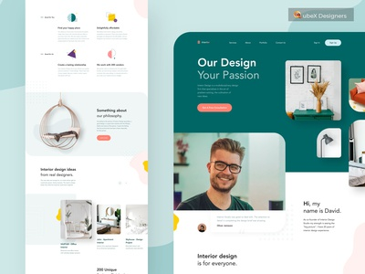 Interior landing page design for client