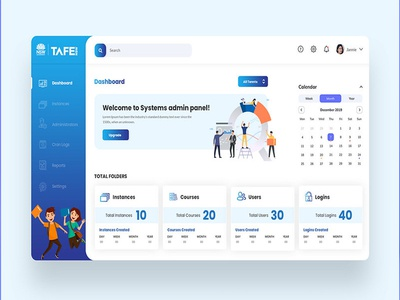 TAFE Dashboard UI Design