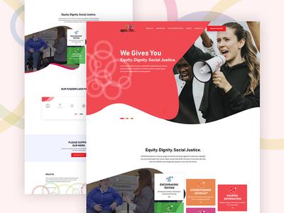 apcom Website UI Design