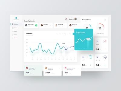 Medical web app dashboard