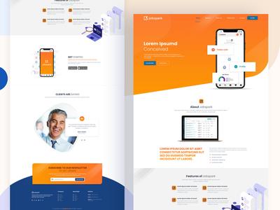 Jobspark website design