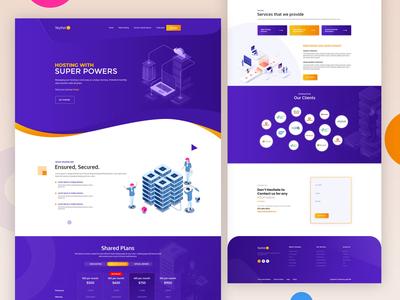 Skythel website design