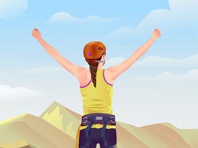 perseverance triump climb resist femme