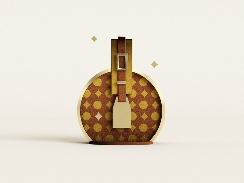 🧳 lugagge 3d travel bag louis vuitton c4d 3dillustration vector illustration minimal geometry geometric