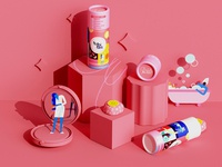 👅 beauty self care beauty salon me time tube packaging food packaging superfoods colorful pink vector illustration character character design minimal geometry geometric