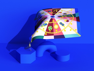 🔵 silk charms textile good luck lucky charms textile illustration silk scarves textile design silk scarf colorful vector illustration minimal geometry geometric