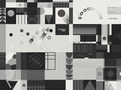 🔘 ordinary folk noise geometric pattern geometric shapes poster greyscale design pattern vector illustration minimal geometry geometric