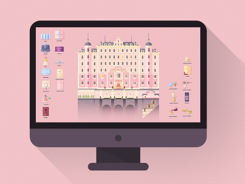Grand Budapest Hotel Wallpaper: The Grand Budapest Hotel · Iconset By Lorena G