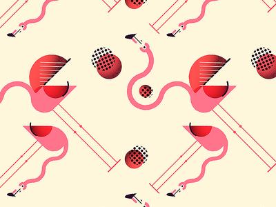 Flamingo loco pattern