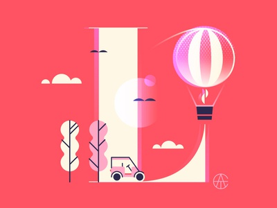 ATC Collaboration golf balloon tree typography rosemary landscape font collaboration avondale type co ate