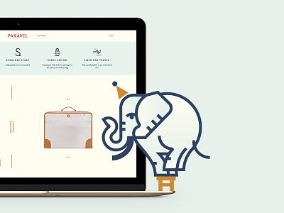 Paravel icons adventure bags luggage luxury travel fashion paravel elephant iconset icons icon