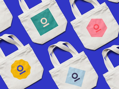 Coming soon tote bag branding circle color color scheme geometry minimal palette pattern business card