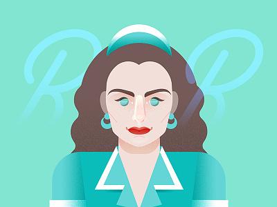 Shelly Johnson double r diner diner mint vector illustration vector twinpeaks2017 twin peaks theowlsarenotwhattheyseem portrait flat design davidlynch shelly johnson