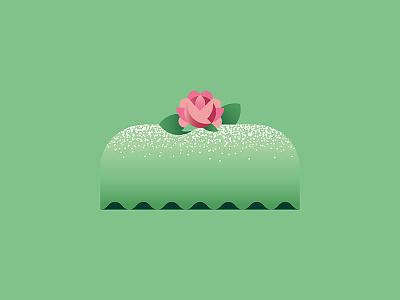 🍰 swedish bakery sweden baking marzipan klassisk prinsesstårta green rose princess cake sweet tooth sweets cake geometric