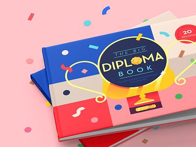 The Big Diploma Book medal educational book trophy geometric diploma confetti kids book kids children book book