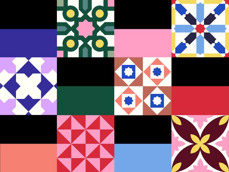 Hydraulic tiles barcelona tiles hydraulic tiles geometric pattern pattern color palette minimal geometric