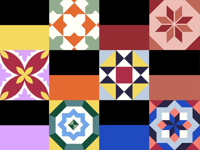 Hydraulic tiles geometric minimal color palette pattern geometric pattern hydraulic tiles tiles barcelona